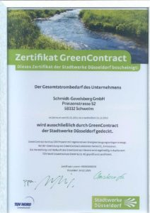 Zertikikat, Green Contract.